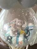 Stuffer ballon Baby met topballon in folie_