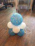 ballonstaander op voet baby boy met 3 ballonnen_