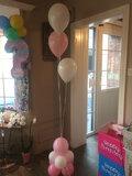 ballonstaander op voet baby girl met 3 ballonnen_