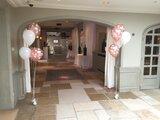 Ballonnentros communie 5 ballonnen met voetje _