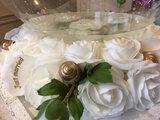 Aqua ballon huwelijk met bloemen _