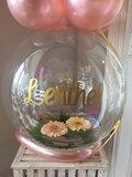 Aqua ballon met bloemen _