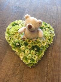 Kinderrouwstukje hart met beertje