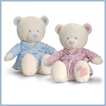 Knuffelbeer met  badjas girl/boy