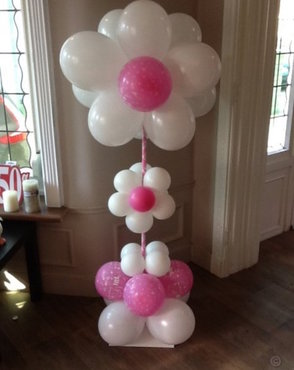 Ballonstaander bloemvorm