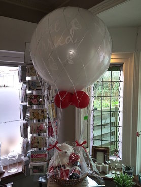 Grote ballon just married in net