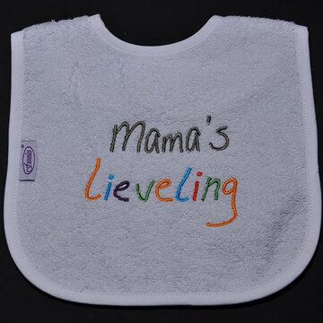 slabbetjes met standaard tekst: Mama's lieveling