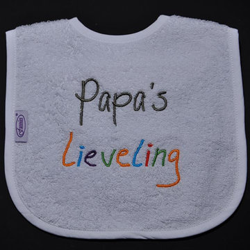slabbetjes met standaard tekst: Papa's lieveling