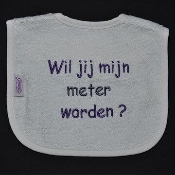 slabbetjes met standaard tekst: Wil je mijn meter worden ?