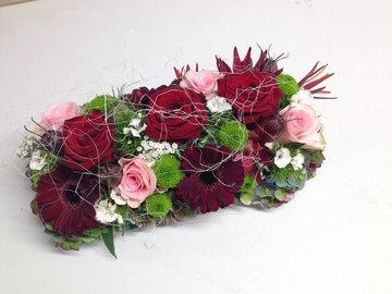 bloemstuk herfsttinten smal