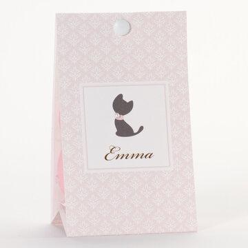 Kat roze Driehoeksdoosje met zelfklevende parel