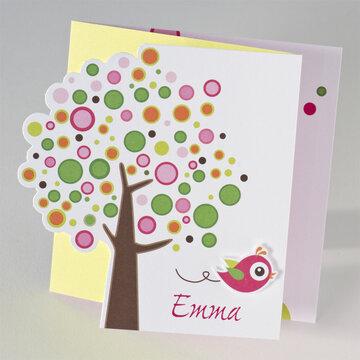 Vogel Fuchsia geboortekaartje