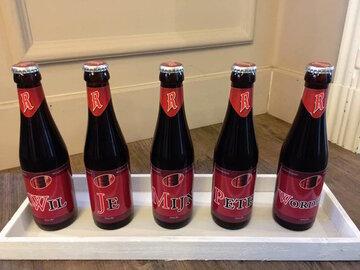 Bier met sticker Rodenbach