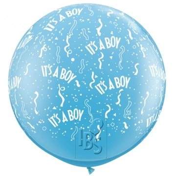 Latexballon it's a boy 36 inch = 90cm