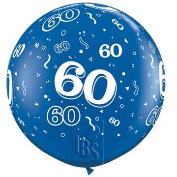 Latexballon 60 jaar - 36 inch = 90cm