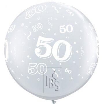 Latexballon 50 jaar - 36 inch = 90cm