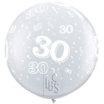 Latexballon 30 jaar - 36 inch = 90cm