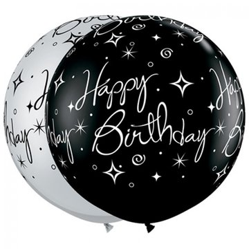 Latexballon Happy Birthday - 36 inch = 90cm