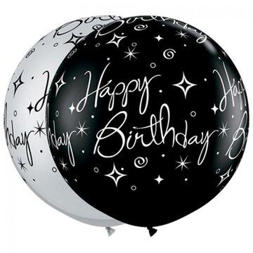 Latexballon Happy Birthday - 36 inch = 90cm