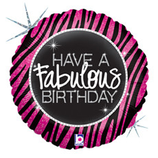 Folieballon have a fabulous birthday 18 inch = 46cm