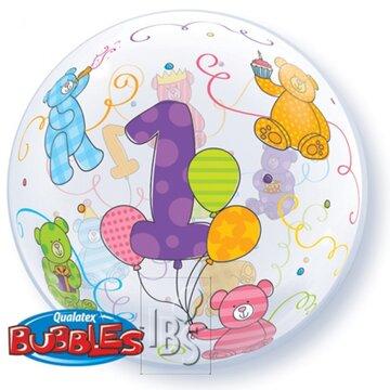 Bubbles ballon 1 jaar 56cm