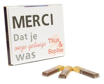 merci chocolade met wikkel