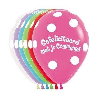 B/ballon 18 inch (45cm) met tekst gefeliciteerd met je communie