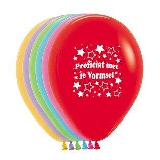A/ballon 12 inch (30cm) met tekst Proficiat met je vormsel