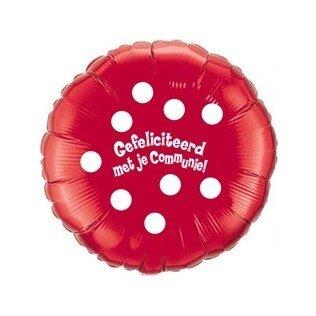 Folieballon Communie 18 inch = 45cm dubbelzijdig bedrukt