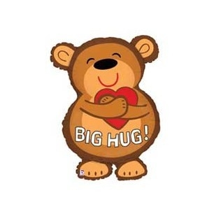 Folieballon big hug bear 28inch/71cm