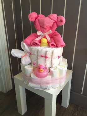 pampertaart pink bear
