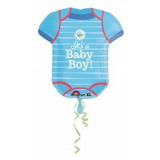 Baby body blue 24 inch = 60cm dubbelzijdig bedrukt