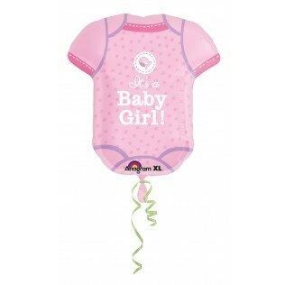 Baby body pink 24 inch = 60cm dubbelzijdig bedrukt