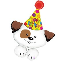 Birthday party puppy 37inch = 94cm dubbelzijdig bedrukt