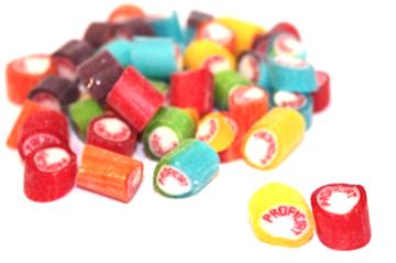 Fruitsnoepjes Rock Candy Proficiat