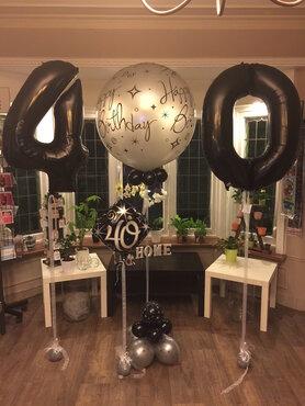Ballondeco 40 jaar set