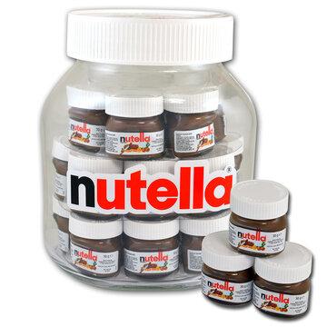XXL pot nutella gevuld met 21 x 25gr mini nutella