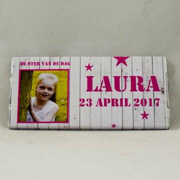 6- Laura reep melkchocolade 40gr.