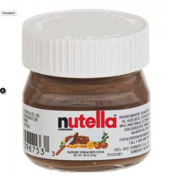 Nutella potjes 25gr. (enkel voor doorverkoop) per 64st.