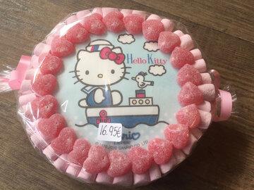 Snoeptaart Hello Kitty met print 15cm