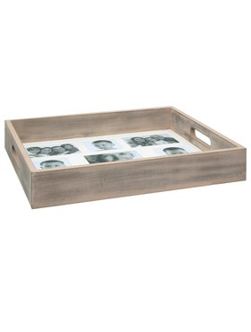Dienblad grijs hout