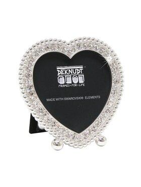 Fotokader zilver hart met swarovski steentjes