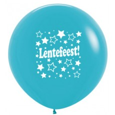 Ballon 90cm lentefeest sterretjes - Blauw
