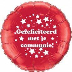 Folieballon 45cm communie sterretjes - Rood
