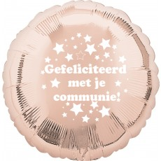 Folieballon 45cm communie sterretjes - Rose Gold
