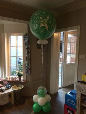 Ballondecoratie ballon verjaardag 90cm met voet