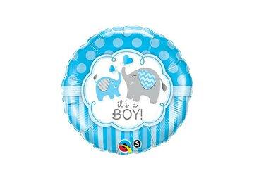 Folieballon it's a boy 18 inch = 46cm dubbelzijdig bedrukt