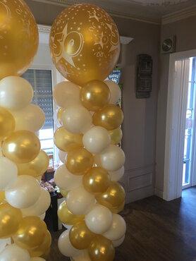 Ballonstaander met grote bedrukte topballon