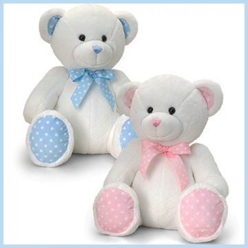Knuffelbeer baby spotty 25cm