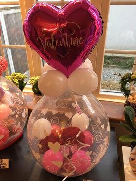 Ballon gevuld met lekkernijen Valentijn